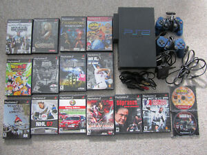 Sony Playstation 2 (PS2) Console, Controllers, Camera, & Games