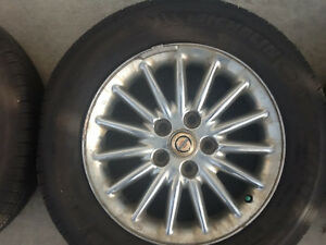 5 Chrysler Rims and New All Season 225/ 60 R16 with Full Spare