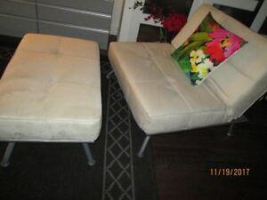 Causeuse inclinable avec repose-pieds convertible en lit 1 place