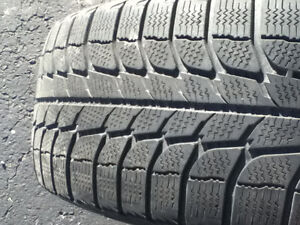 Set of 4 15-inch snow tires with steel rims