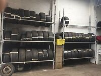 Part worn tyres job lot