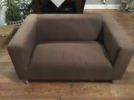 3 and 2 seater sofa in brown