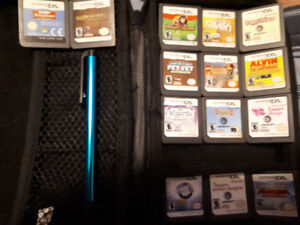 DS Games w/ Case and Stylus