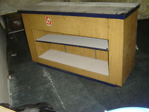 $150 · Used wood counter for the store with some shelves Regina Regina Area image 3