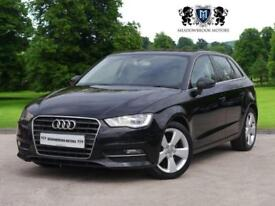 2014 64 AUDI A3 2.0 TDI SPORT 5D 148 BHP DIESEL, 1 OWNER+LEATHER+PARK ASSIST