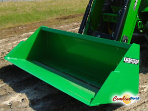"""NEW Kirchner 8.5'x36""""x32"""" ALO Quick-Attach/Euro-Style Bucket"""