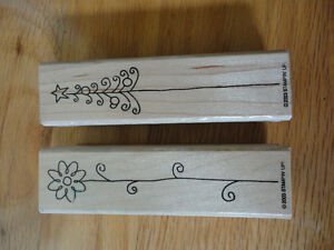 Stampin Up Nice & Narrow Stamp Set Flower Happy Baby Little One