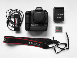 Canon 5D mark2 full frame DSLR with battery grip and accessories