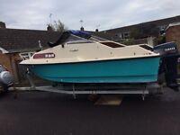 Shetland 570 boat and trailer no engine