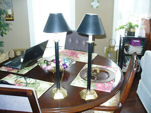 Two Buffet Lamps, Vintage