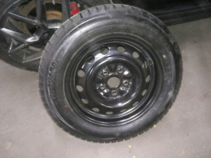 Winter tires a rims. Cheaper if sold within the next two days