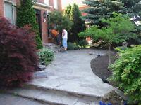 Stone patios and walkways