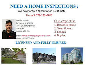 NEED A HOME INSPECTIONS ?