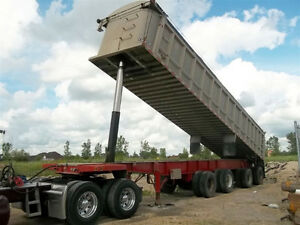 2001 Custom 43' Aluminum End Dump Trailer with 40' box