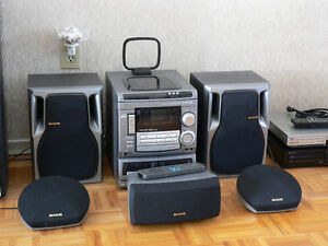 Aiwa CX-NMT-520 105 watt Bookshelf Surround Sound Stereo System
