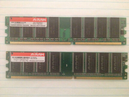 DDR 400  1GB x 2 sticks , double sided Jane Brook Swan Area Preview