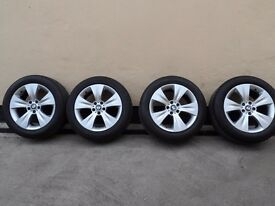 "Bmw X5/X6 ** 19"" ALLOYS WHEELS WITH TYRES ** GENUINE ** 258 ** GREAT CONDITION £ 595"