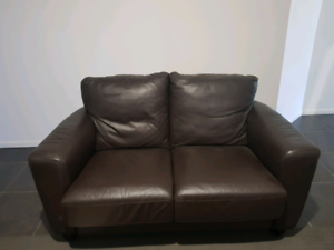 Natural Brown leather couches