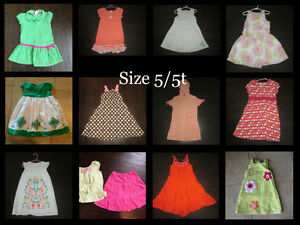 Girls sz 5/5t summer dresses, outfit and swim cover up