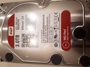 """2 Hard drive WD 3TB Red 5400 rpm SATA III 3.5"""" Internal NAS HDD"""