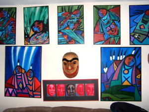 Collection of 10 original Jerry Whitehead paintings