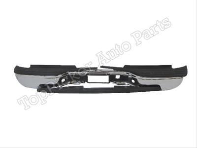 For 1999-2006 Silverado Fleetside 2500HD 3500 Rear Step Bumper Chrome & Pad 4pcs