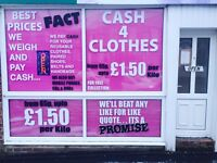 Cash 4 Clothes UP TO 1.50£ PER KILO