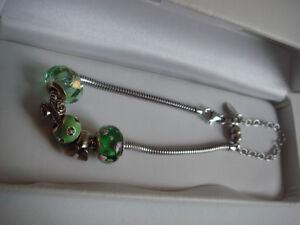 Sterling Silver Persona Style Bead Bracelet