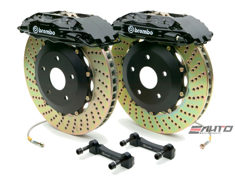 Brembo Front Gt Bbk Brake 4piston Black 332x32 Drill Disc For G35 350z Fairlady
