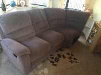 4 seater corner recliner sofa