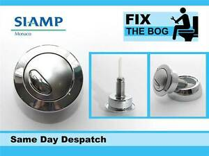 Siamp Optima 49 Toilet Push Button Dual Flush Water Saving Chrome Effect B&Q