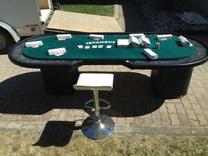 Poker table and 1400 quality chips