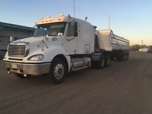 2005 Freightliner Heavy Spec and 2013 ARNES End Dump
