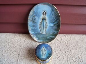 Our Lady of Lourdes by Bradford Exchange Plate and Music Box!