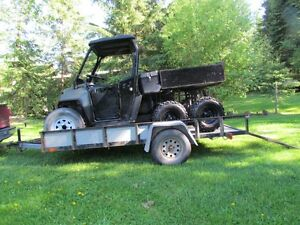Polaris Ranger and Trailer