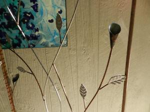 Rustic Garden Charm Folding Metal Floral Panel Trellis