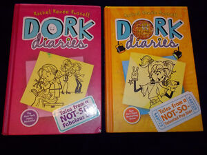 2 hard cover DORK DIARIES (#1 and #3)