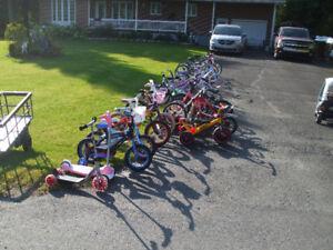 Vélo pour toute la famille de 45$ à 275$  450-994-2242