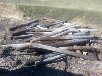 FIREWOOD.  Used Fence Posts- Outdoor Woodstove