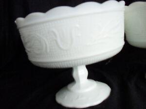Milk Glass Pedestal Bowl Peterborough Peterborough Area image 1
