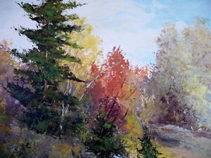 """Panoramic Countryside by E. Benninger """"Across the River"""" 1970's Stratford Kitchener Area image 10"""
