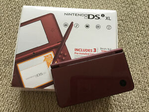 Nintendo DSIxl with Charger in box and 60 Games