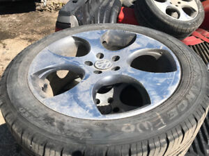 MK4 Jetta Golf GTI Rims with Good Year triple treads