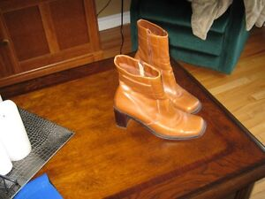 BRAZILIAN LADIES LIGHT BROWN LEATHER BOOTS