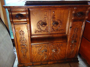 Embossed Drawing Room Cabinet-Singer Sewing Machine