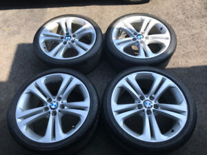 "Bmw OEM rims and tires 19"" staggered setup"