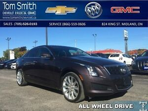 2014 Cadillac ATS LUXURY AWD   - Certified -  LEATHER -  LOW KMS