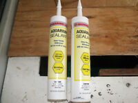 LOT OF 2 - NEW TUBES OF AQUARIUM SEALANT FOR REPAIR OR NEW GLASS