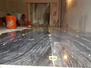Tile installation  (commercial and residential)
