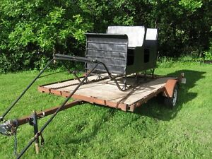 2 SEAT CUTTER SLEIGH PROFESIONALY BUILT EXCELENT CONDITION